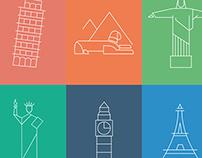 Graphic landmark posters
