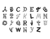 Alphabet Lettering Collection Vol.1