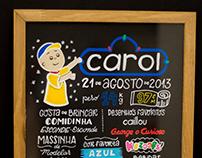 Carol • Quadro + Posca