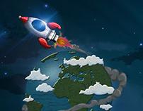 Round earth trip
