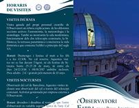 Brochure design for Observatori Fabra