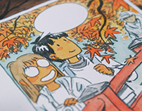 Onibi - watercolor graphic novel