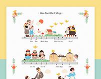 Baa baa black sheep nursery rhyme illustration