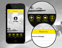 Fly High mobile App/ Home page