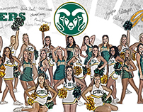 Colorado State Golden Poms and Cheerleaders 2014 Poster