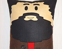 Handmade Harry Potter Hagrid v1.43 Fan Art Plush Pillow
