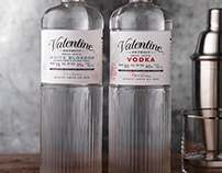 Valentine Vodka Packaging, Logo, Custom Bottle Design