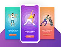 Energevo: Gym workout mobile UI UX app design