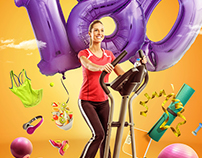 180 Fitness Centre Print Campaign