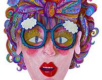 Paper-Cut Art for 'Oh La La' Exhibition