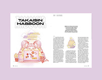 Editorial illustrations, Libero-magazine