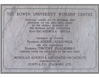 Front-End Web Design for Bowen University Chapel