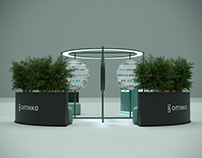 This is a temporary unit concept for an eyewear company