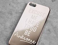 Rose Gold Metallic iPhone Case for Bershka_AW16·17