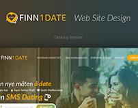 Landing Page Design | Finn1Date Norway 🇳🇴