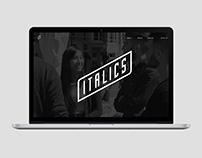 Italics / Branding / Website