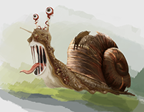 Snail from nightmares. WIP.
