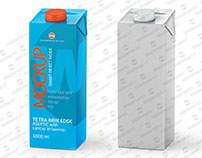 Package Mockup of Tetra Pak Brik 1000ml