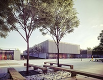 Eco-educational centre + marketplace, MA degree project