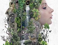 Duality of Nature original dark surrealism art