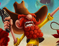 """Ginger Rangers"" Game Artwork"