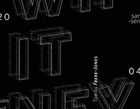 Whitney Typeface Specimen Poster