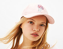Bershka Embroidered Cap