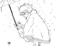 Hatake Kakash on the rainy day