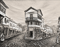 Gjirokastër Albania - Old City Drawing