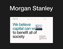 Corporate website Morgan Stanley redesion