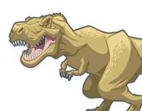 T-rex spot art image