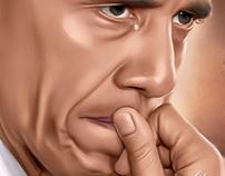 Barack Obama Digital Art by Wayne Flint