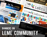 Banners on LeMe Community