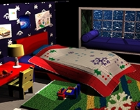 Christmas theme kids bedroom