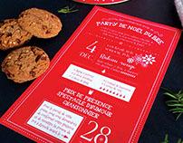 Invitation party de Noël