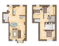 Floor plan rendering (France)
