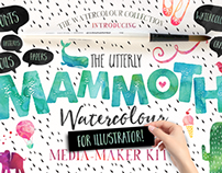 Mammoth Watercolour for Illustrator by Nicky Laatz