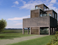 Housing on concrete ruins