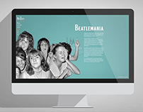 THE BEATLES - Web design