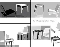 Multifunctional Chair/Table