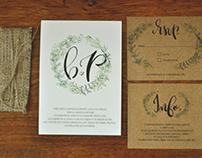 Lettering - Invitaciones Matrimoniales