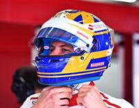 Marcus Ericsson 2018 F1 Helmet Design