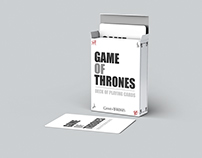 Game of Thrones Minimalist Playing Cards