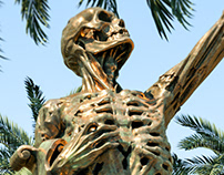 Skeleton in Palm Tree Park