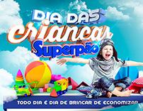 Dia das Crianças - Capa Tabloide - Supermercado