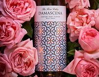 Rose Wine Label Design - Damascena