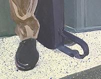Paintings - Subway Feet