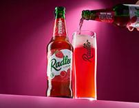 Soft Drink Label Design - Radler Raspberry