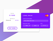 DailyUi #002. Credit Card Checkout
