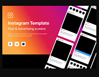 Instagram mockup template PSD and Sketch free download